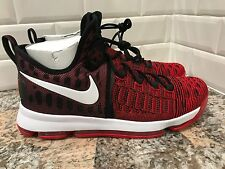 2016 Nike Zoom KD 9 Durant Flyknit SZ 13 University Red White Black 843392-610