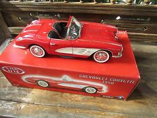 Solido 1:12 scale model 1958 Red Chevrolet Corvette Convertible Original box