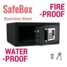 Digital Safe Security Box - Waterproof Fireproof Stainless Steel 18X17X9 33lb