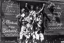 WW1 - Soldats allemands en route pour le front de l'Ouest en août 1914