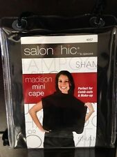 Salon Chic by Scalpmaster Madison Mini Cape Comb-outs/ make up cape Black #4057