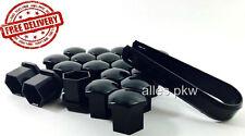 20 x 17mm KIA SCHWARZ RADSCHRAUBEN RADMUTTERN RADDECKUNG ABDECKUNG NUT CAPS