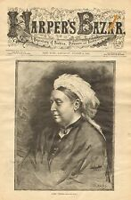 Royalty, Queen Victoria, Portrait, Vintage 1883 Antique Art Print