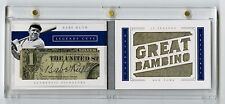 2016 BABE RUTH National Treasures Cut Auto 1/1 Game Used Jersey Legend Autograph