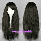 Fashion Long ladies wig Rhapsody Black curly wave party Heat Cosplay wigs