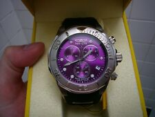 Invicta Pro Diver 300m men's chronograph watch purple 47mm case