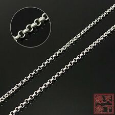 "18""1.5mm platinum over .925 Sterling Silver chain 4006"