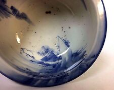 Blue & White Chinese Porcelain Footed Bowl