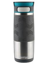 Contigo Autoseal Metra Travel Mug 16 oz Stainless Steel with Blue Accent Lid