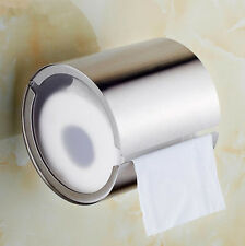 Stainless Steel Toilet Paper Holder Round Tissue Roll Wall Mount Brushed Nickel