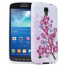 Samsung Galaxy S4 Active i537 i9295 Pink Flower Blossom TPU Gel Case Cover Skin