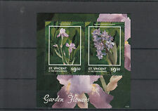 St Vincent & The Grenadines 2014 MNH Garden Flowers II 2v S/S Iris Hyacinth