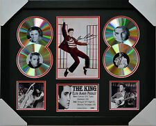 ELVIS PRESLEY MEMORABILIA FRAMED SIGNED LIMITED EDITION 4CD