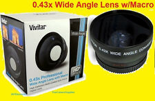 0.43x WIDE ANGLE LENS 52mm PRO W/ MACRO HIGH DEFENITION MULTI-COATED AUTO FOCUS