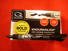 Quartet EnduraGlide Dry Erase Marker Box of 12 Black
