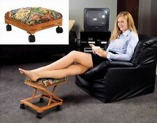 Foot Rest Elevated Foot Stool Footrest Adjustable Folding Tapestry Decorative