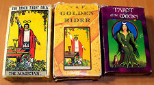 Vintage Smith Waite Rider Tarot Cards + Francois Tapernoux Golden Rider Deck + 1