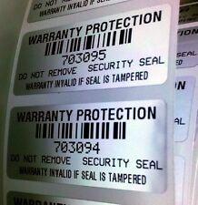 250 WARRANTY VOID PROTECTION LABELS STICKERS W/BAR CODE