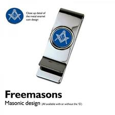 Masonic BLUE with G Coin MONEY CLIP Freemason Mason Symbol Pounds Present Gift