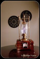 one of a kind handmade wood and brass steampunk edison sci fi lamp lamp light