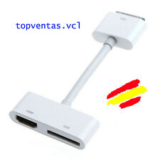 CABLE ADAPTADOR HDMI HD a HDTV AV Para iPhone 4  4S  iPod 2 iPad 1 2 3