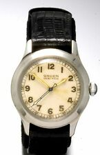 Gruen Watch Military Style Dial Steel Boys 3/4-Size In New Condition Vintage