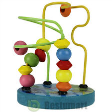 New Children Kids Baby Colorful Wooden Mini Around Beads Educational Game Toy