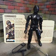 GI JOE ~ 1982 SNAKE EYES ~  STRAIGHT ARM ~ COMMANDO ~ NINJA ~ 100% & file card