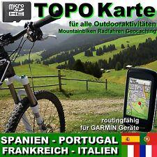 microSD ✔TOPO Karte für GARMIN ✔ FRANKREICH Spanien ITALIEN Geocaching Biking ✔
