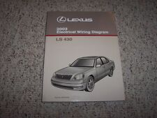 2003 Lexus LS430 LS 430 Factory Electrical Wiring Diagram Manual 4.3L V8