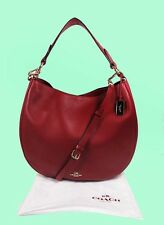 COACH 36026 Nomad Cherry Red Glovetanned Leather Hobo Bag Msrp $495.00*FREE S/H*