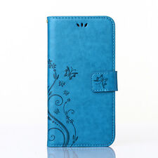 Retro Leather Flip Wallet Card Pocket Case Cover For Samsung Galaxy phone Models