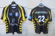 Maillot rugby SCA ALBI porté n°22 OVALIA match worn shirt moulant collection XXL
