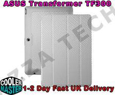 CoolerMaster ASUS TF300 Folio Case Cover Silver White Carbon Texture Transformer