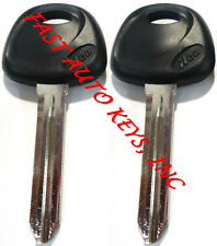 2 NEW REPLACEMENT NON-TRANSPONDER UNCUT BLADE KEY BLANK FIT KIA - MADE IN USA