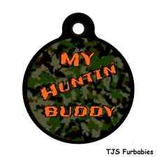 Camo Hunting Dog Buddy-Custom Personalized Pet ID Tag for Dog Collars & Harness