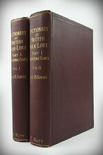 1894/98*DICTIONARY:BRITISH FOLKLORE*TRADITIONAL GAMES*ENGLAND/SCOTLAND/IRELAND*