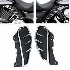 Pair Mid-Frame Air Deflector Accents Trims For Harley Touring FL Models