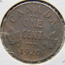 CANADA, George V: 1920 bronze Cent, 1st year of issue; AU