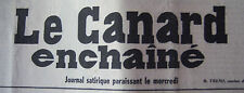 JOURNAL ANNIVERSAIRE LE CANARD ENCHAINE ACTUALITE SATIRIQUE DU 16 AVRIL 1958