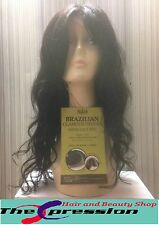 RUSH 100% Real Brazilian Virgin Remi Unprocessed Natural Human Hair Wig Curly-UK