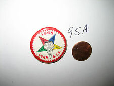 VINTAGE ORDER OF THE EASTERN STAR CONNECTICUT 1968 OES PINBACK PIN BUTTON BADGE