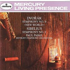 PARAY/DETROIT SO - SINFONIEN 9/2  CD NEU DVORAK,A./SIBELIUS,J.