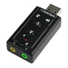 USB 2.0 3D Virtual 480Mbps External 7.1 Channel Audio Sound Card Adapter