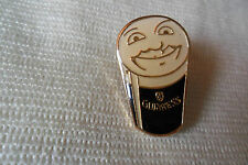 Smiling Guinness pin lapel badge,free u.k.p&p