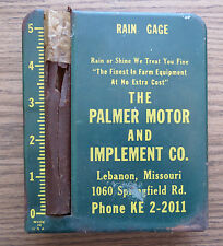 PALMER MOTOR & IMPLEMENT CO ADVERTISING RAIN GAUGE LEBANON MISSOURI - Farm Equip