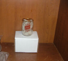 SCHLITZ Beer Enamel Barrel Beer Glass 1950's MILWAUKEE Wisconsin PINE CONES