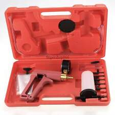 Brass Vacuum Brake Bleeder Hand Held Pump Tester Kit Adapters w Case Top Selling