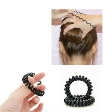 5PCS Hair Ties Tel Wire Style Durable Elastic Rubber Band Rope Ponytail Holder