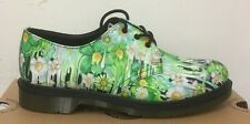 DR. MARTENS 1461 GREEN VERT PAINT SLICK BACKHAND  LEATHER  SHOES SIZE UK 5